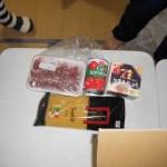 ハツ、トマト缶、納豆、パスタ