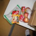 春雨、チーズ、りんご、魚肉ソーセージ